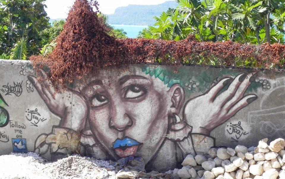 Haiti_bemalte Mauer_Reisen