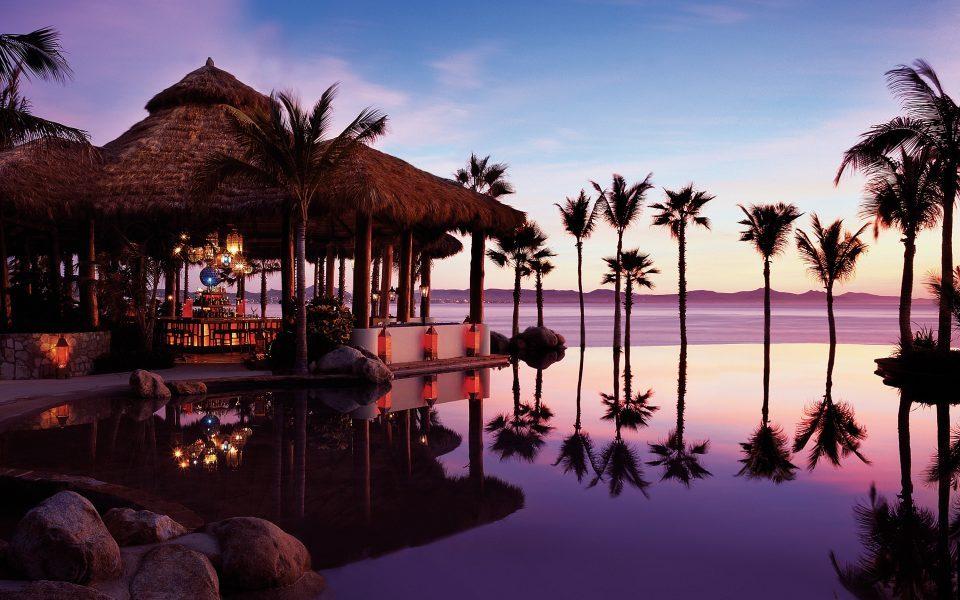 Mexiko_Mexico_Resort am Meer_Sonnenuntergang_Reisen