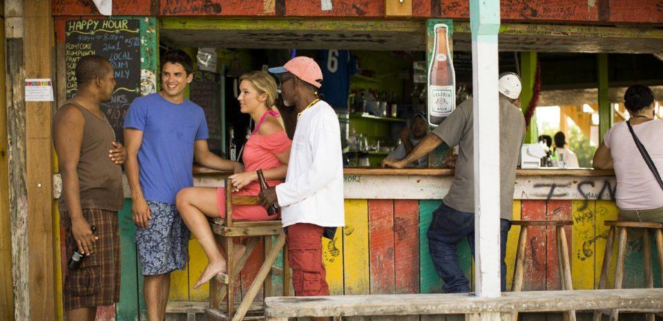 Belize, Strandbar auf Caye Caulker, Reisen