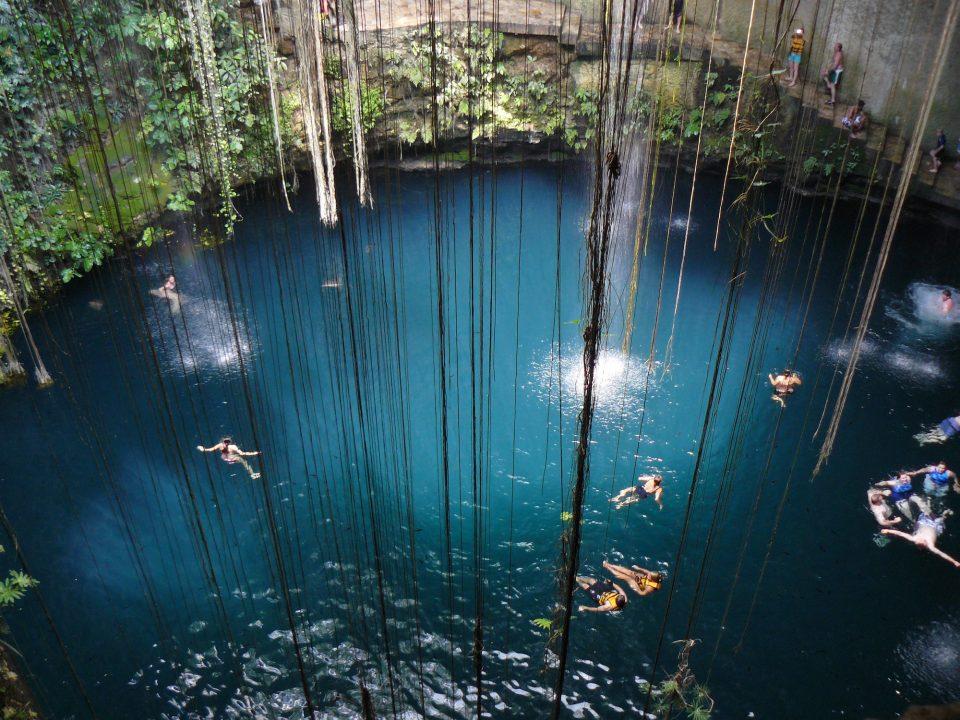 Mexiko, Cenote Ikil, Baden, Latin America Tours, Reisen