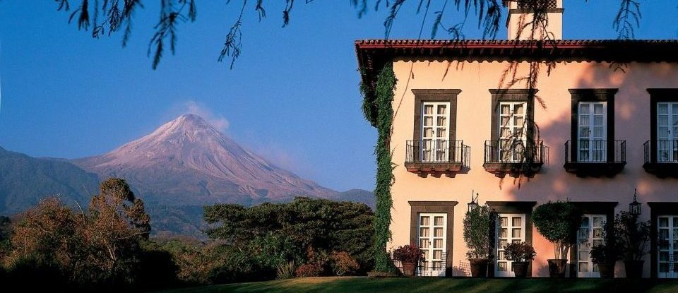 Mexiko, Hacienda San Antonio, Comala in Colima, Aussenansicht vor dem Vulkan El Fuego, Latin America Tours, Reisen