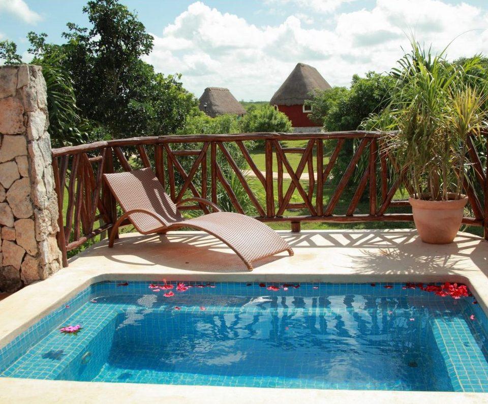 Mexiko, Hacienda Sotuta de Peon, Terrasse mit Pool, Latin America Tours. Reisen