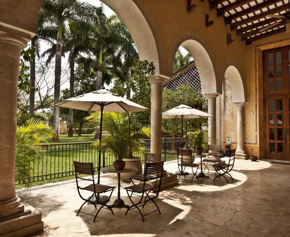 Mexiko, Hacienda Xcanatu, Innenhof Verandah, Latin America Tours, Reisen