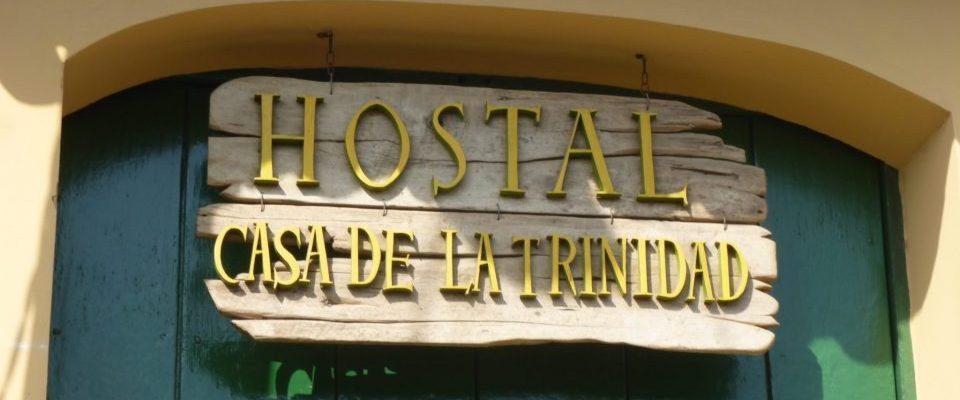 Kuba, Casa Particular, Hostal Casa de la Trinidad, Türschild, Latin America Tours, Reisen