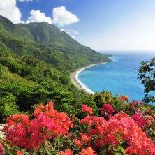 Dominikanische Republik, Blick auf Küste in Barahona im Südwesten der Dom Rep, Latin America Tours, Reisen